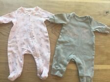 PREEMIE babyGap set of two ~ New Born Baby Girl Clothing ~ Up To 7 Lbs One Piece