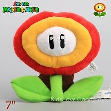 Super Mario Brothers Fire Flower Plant Decoration Plush Doll 7 Inch Collection