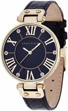 Anne Klein Leather Ladies Watch AK-1396BMBK