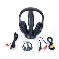 New 8 in 1 Wireless Headphone Cordless Headset Mic FM Radio for TV PC iPod US