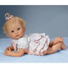 """TUMMY TIME""- AWW! FULLY POSABLE 20 Inch Collectors Life Like Baby Girl Doll"