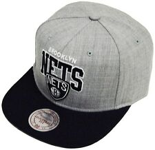 Mitchell & Ness US Black Grey White Brooklyn Nets NBA Snapback Cap  OSFA EU183