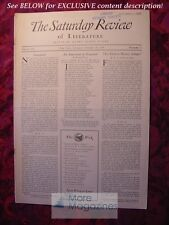 SATURDAY REVIEW October 18 1930 M. A. De Wolfe Howe Henry Williamson
