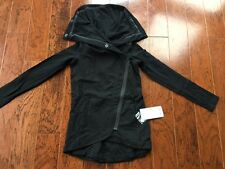 NWT Lululemon Method Wrap Jacket BLACK ZIP  - Size 2