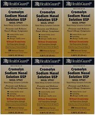 Cromolyn Solution For Nasal Allergies Generic for Nasalcrom 0.88 oz  PACK of 6