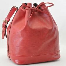 Authentic  Louis Vuitton Epi Noe Red Shoulder Bag M44007 #S4234
