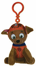 "NEW OFFICIAL 4"" PAW PATROL ZUMA PUP PLUSH SOFT TOY BAG CLIP NICKELODEON DOGS"