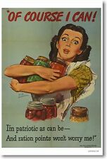 Of Course I Can - Vintage American WPA WW2 Art Reproduction POSTER