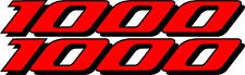 2 GSXR 1000 Decals Stickers Emblem Decal Street Bike Red graphics Stickers