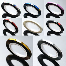 Fashion 3mm 8 Roll Nail Roll Striping Tape Line Nail Art Decor Sticker 20M AS