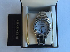 NWT Anne Klein AK/2007MPSV Women's made with Swarovski Crystal-Accented Watch
