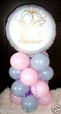 BRIDAL SHOWER HEN NIGHT PARTY FOIL BALLOON TABLE DISPLAY DECORATION AIRFILL  b&b