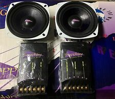 "1 Pair NEW Old Phoenix Gold Sapphire 4"" Component Speaker Set,Rare,NO TWEETERS"