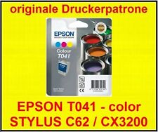 CARTUCCIA ORIGINALE EPSON STYLUS c62/cx3200 * t041 color * NUOVO