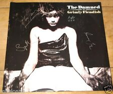 THE DAMNED ~ GRIMLY FIENDISH ~ FULLY SIGNED UK 12-INCH SINGLE 1985