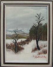 Per Gunnar Lindström *1909, Winterlandschaft, um 1960