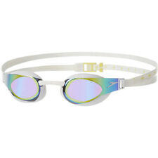 NEW Speedo Fastskin 3 Elite Mirror Goggles – White/Gold Swimming