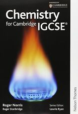 Chemistry for Cambridge IGCSE (paperback) by Roger Norris and Roger Stanbridge