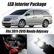 17pcs LED White Lights Interior License Package Kit For Honda Odyssey 2011-2015