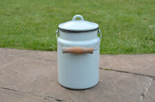 Vintage enamel milk churn can milkchurn milk pot with lid  - 2L  - FREE POSTAGE