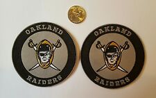 """2 -Oakland Raiders Vintage Iron on Embroidered CLASSIC  Patches Patch lot 3"""" x 3"""