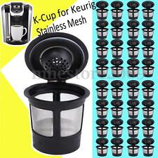 6x Reusable Single Cup Keurig Solo Filter Pod K-Cup Coffee Stainless Mesh Superb