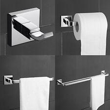 Modern Brass Chrome Finish Bathroom Accessory Sets, 4-Piece Bathroom Hardware