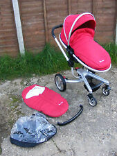 Chilli Red Silver Cross Surf Pushchair Buggy Stroller Pram with Accessories