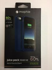 NEW MOPHIE JUICE PACK RESERVE BATTERY CASE FOR iPHONE 6S / 6 COLOR:BLUE 1840 mAh