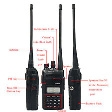 New Walkie Talkie Puxing PX-888K 128CH UHF/VHF FM VOX DTMF/5 Tone Two Way Radios