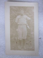 1900's era Springfield laceup uniform Baseball postcard Real Photo