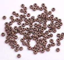 100Pcs Tibetan Silver & Gold & Bronze , Charms Spacer Beads 4MM CA3114