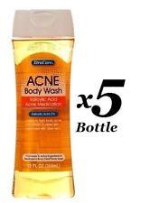 5 x XtraCare Skin Acne Body Clear Wash With Salicylic Acid With Aloe Vera 12 Oz