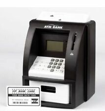 DIGITAL PIGGY BANK Bank ATM Machine Card Money Note Coin Saving Counter Bank Box