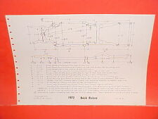 1972 BUICK RIVIERA SKYLARK GS 350 455 CONVERTIBLE COUPE FRAME DIMENSION CHART