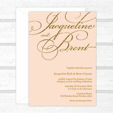SAMPLE - Wedding Invitation | Blush & Gold Glitter | Pink Elegant Modern Vintage