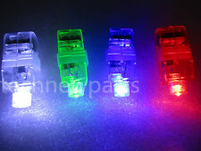 15x LED Finger Lights Lamps Party Laser Light Up Beam Torch Glow Ring UK KIDTOY