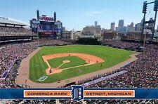 DETROIT TIGERS - COMERICA PARK POSTER - 22x34 MLB BASEBALL STADIUM 13258