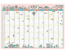 "2017 Ardium Urban 365 Wall Calendar 23""x17"" Scheduler Planner Cute Folded Paper"