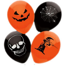 15 PALLONCINI HALLOWEEN NERO ARANCIONE cobweb Fancy Dress Party SPOOKY Decorazione