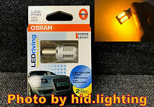 Genuine OSRAM 7457YE amber yellow 12V PY21W LED Driving Turn signal Light BAU15S