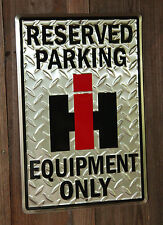 FARMALL IH Tractor EQUIPMENT RESERVED PARKING SIGNS ADVERTISING BARN DEERE