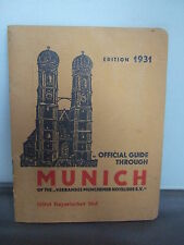 Official Guide Through Munich  1931 - Illustrated - Map