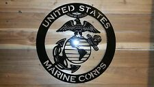 """UNINTED STATES MARINE CORPS Metal Sign,16"""" Hand Made in Waco Texas"""
