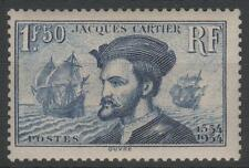 """FRANCE STAMP TIMBRE N°297 """" JACQUES CARTIER BATEAU CANADA 1F50"""" NEUF xx TTB K459"""