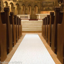 100ft Elegant Flowers White Wedding Party Church Aisle Floor Runner Decoration