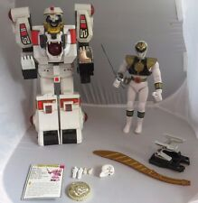 Bandai Mighty Morphin Power Rangers MMPR Tigerzord White Ranger 99.9% - works!