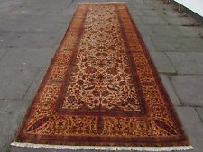 Old Hand Made Natural Dye Indian Wool Beige Big Long Rug Wide Runner 480x159cm