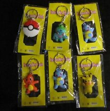 Pokemon Key Chains 6 party bags stocking fillers Christmas pack of 6 assorted