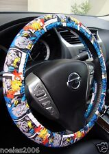 Handmade Steering Wheel Cover Blue Batman